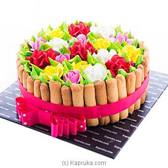 Basket Of Blooms Chocolate Cake at Kapruka Online for cakes