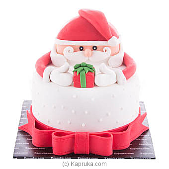 Gift From Santa Ribbon Cake Online at Kapruka | Product# cake00KA00820