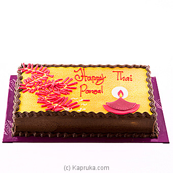 Divine Chocolate Ganache Ribbon Cake Online at Kapruka | Product# cakeDIV00123