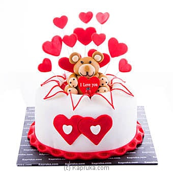Adore You Ribbon Cake Online at Kapruka | Product# cake00KA00849