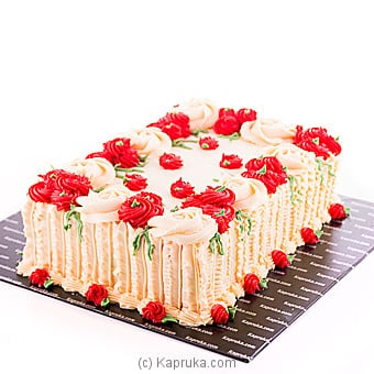 Sealed With A Kiss Ribbon Cake Online at Kapruka | Product# cake00KA00852