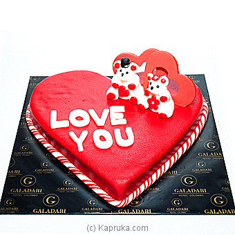 Galadari Heart Shaped Love Cake Online at Kapruka | Product# cake0GAL00172