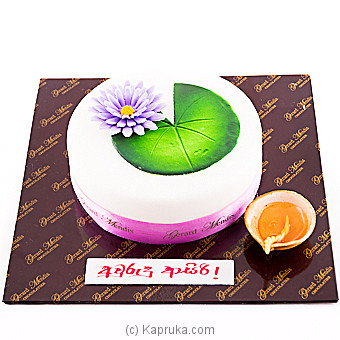 Avurudu Blue Lotus Cake(gmc) Online at Kapruka | Product# cakeGMC00253