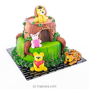 Pooh And The Friends Ribbon Cake Online at Kapruka | Product# cake00KA00925