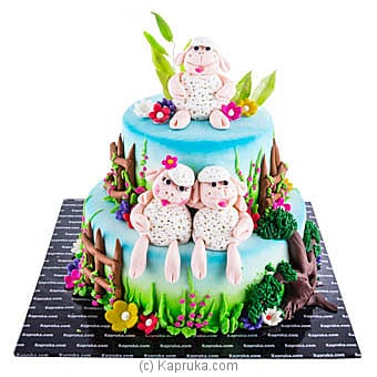 My Little Sheep Ribbon Cake at Kapruka Online for cakes