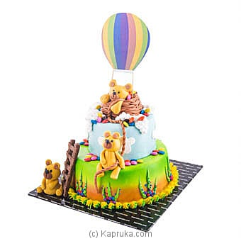 Teddy And The Air Balloon  Ribbon Cake at Kapruka Online for cakes