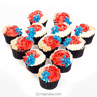 Pure Bliss Cupcakes- 12 Pieces Online at Kapruka | Product# cake00KA00961