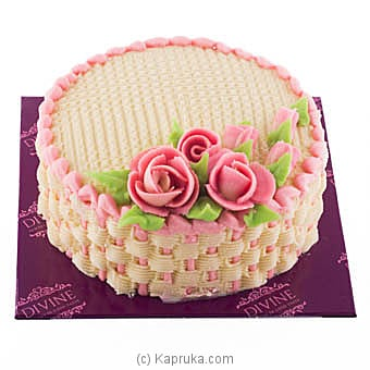 Divine Flower Basket Cake Online at Kapruka | Product# cakeDIV00144