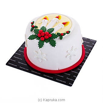 ` Candle Light Christmas` Ribbon Cake at Kapruka Online for cakes