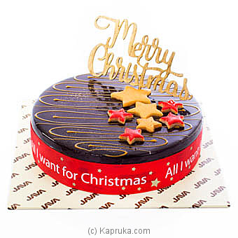 Java Christmas Strawberry & Choco Chip Cake Online at Kapruka | Product# cakeJAVA00138
