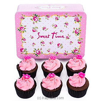 Rosy Chocolate Cup Cakes- 06 Pieces Online at Kapruka | Product# cake00KA001058