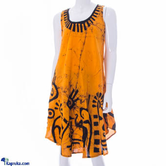 Ladies Viscose Sleeveless Frock - Yellow at Kapruka Online for cross_border