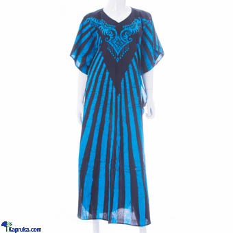 Pure Cotton Long Frock In Blue at Kapruka Online for cross_border