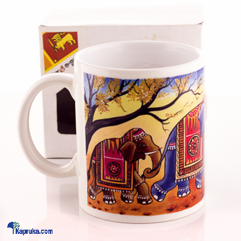 Three Elephant Design Ceramic Mug at Kapruka Online for cross_border