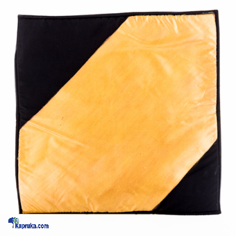 Black & Gold Hand Painted Cushion Cover at Kapruka Online for cross_border