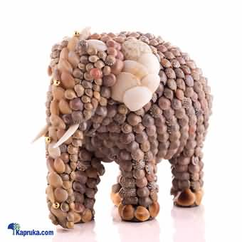 Sea Shell Decorated Elephant Trunk Down - 5 Inch at Kapruka Online for cross_border