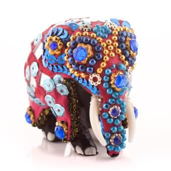 Wooden Elephant Mirror Craft (Pink) at Kapruka Online for cross_border