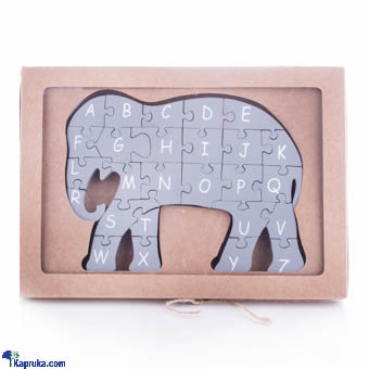 Elephant Wooden Puzzle A-Z Educational Toy at Kapruka Online for cross_border