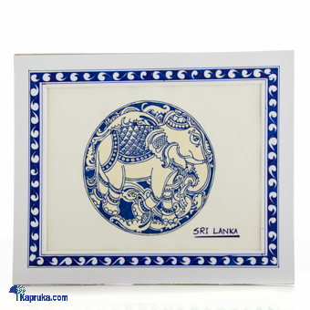 Elephant Decorated With Pen - Blue at Kapruka Online for cross_border