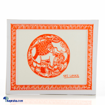Elephant Decorated With Pen - Orange at Kapruka Online for cross_border