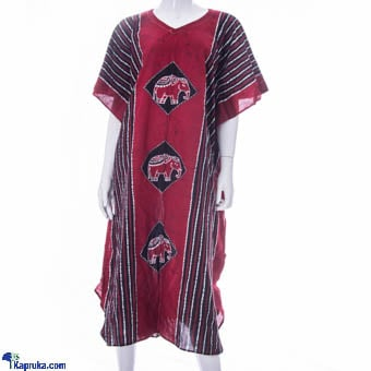 Pure Cotton Long Frock In Red Online at Kapruka | Product# CBfashion00067