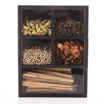 Aesthetic Spice Selection (5 Spices Packed In Bamboo Wooden Box) Online at Kapruka | Product# cbid0266