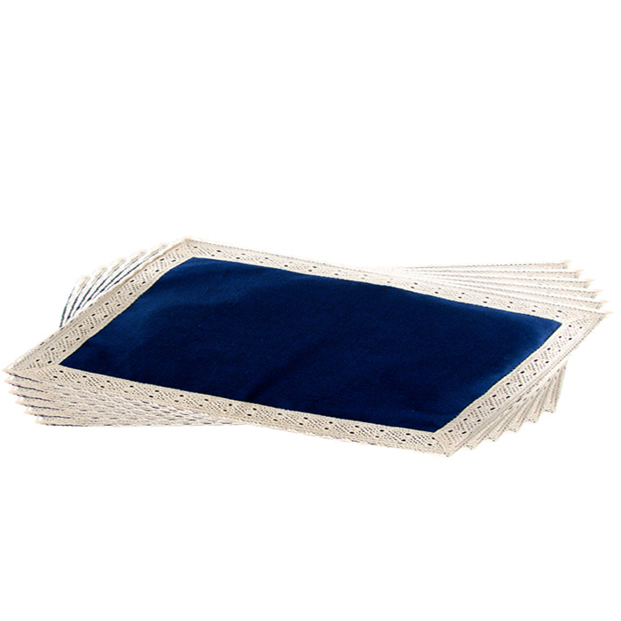Beeralu Decorated Table Mat Set Of Six Pieces(blue) Online at Kapruka   Product# CBhand00008