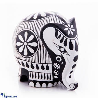 Round Wooden Elephant - 3 Inch Online at Kapruka | Product# CBornmnt00011