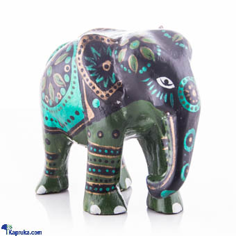 Wooden Painted Elephant - 4 Inch Online at Kapruka | Product# CBornmnt00014