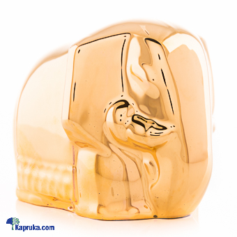 24K Gold Plated Porcelain Elephant Souvenir Online at Kapruka | Product# CBornmnt00017