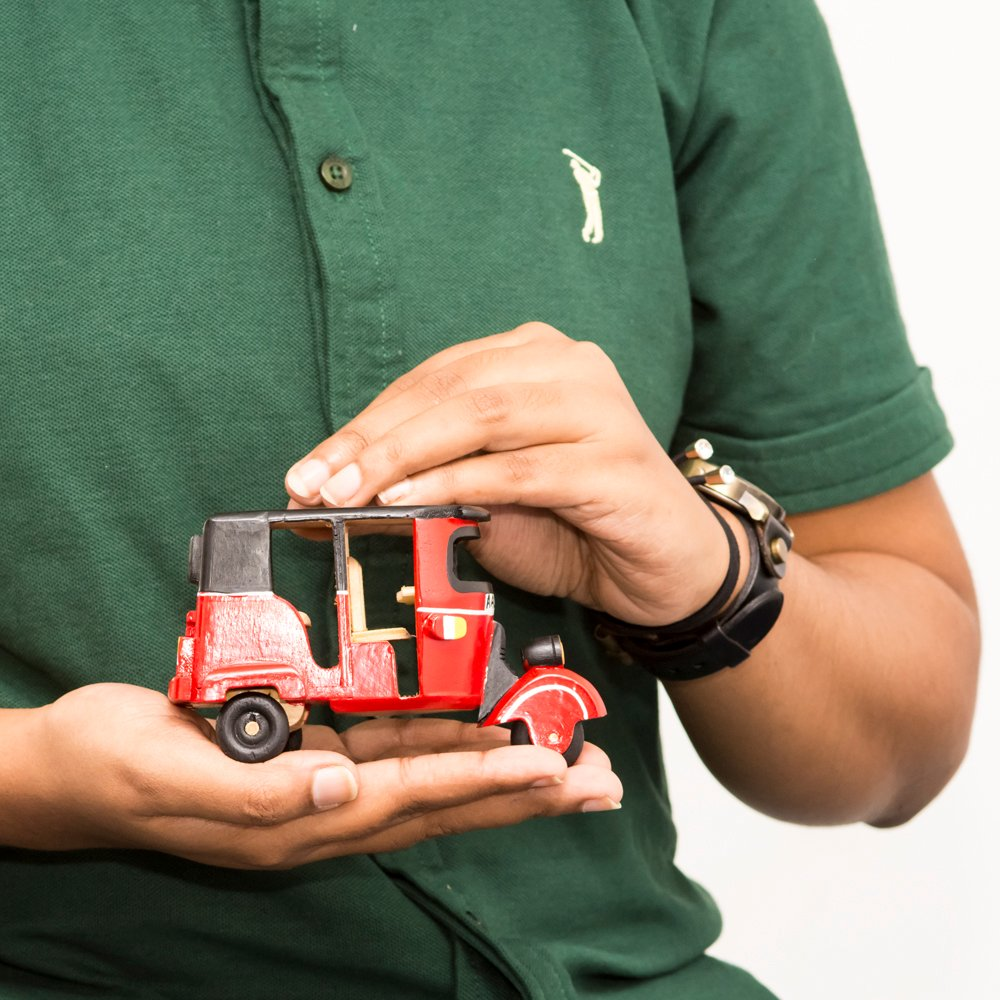 Kapruka Online Shopping Product Wooden Three Wheel Toy (red)