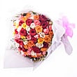 100 Multicolored Roses at Kapruka Online