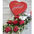 Lindt Red Heart With Roses at Kapruka Online