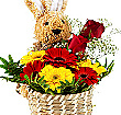 Bunny Basket Of Flowers at Kapruka Online