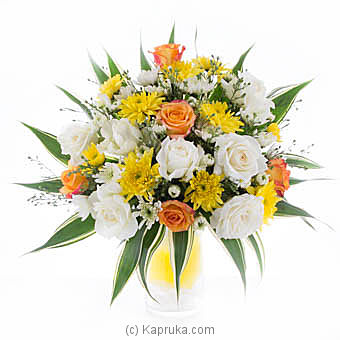 Yellow & White Sympathy Flowers By Flower Republic at Kapruka Online forflowers