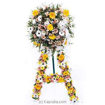 Funeral Wreath - G With Stand By Flower Republic at Kapruka Online forflowers
