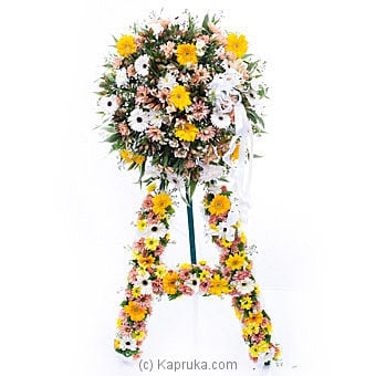 Funeral Wreath - G With Stand at Kapruka Online for flowers