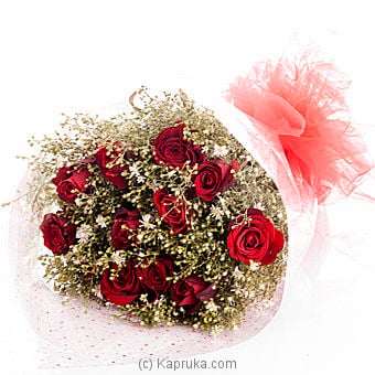 12 Red Rose Bouquet By Flower Republic at Kapruka Online forflowers