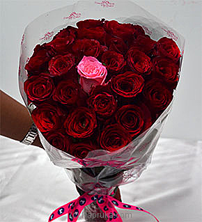 Embark Red Rose Bouquet With 1 Pink Flower at Kapruka Online for flowers