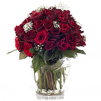 Embark 80 Red Roses In A Vase at Kapruka Online for flowers