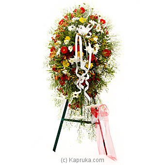 Geberas Stand Wreath By Flower Republic at Kapruka Online forflowers