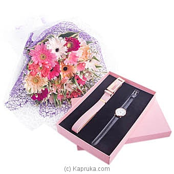 Pretty Women Bunch Of Gerberas With Gift Set at Kapruka Online for flowers