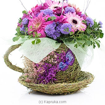 Tea Cup Blooms By Flower Republic at Kapruka Online forflowers