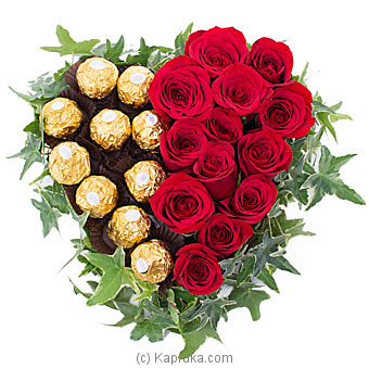 Ferrero Roses Heart By Flower Republic at Kapruka Online forflowers