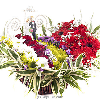 Wedding Couple Arrangement at Kapruka Online for flowers