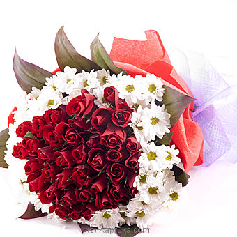 Sealed with a Kiss 40 Red Rose bouquet By Flower Republic at Kapruka Online forflowers