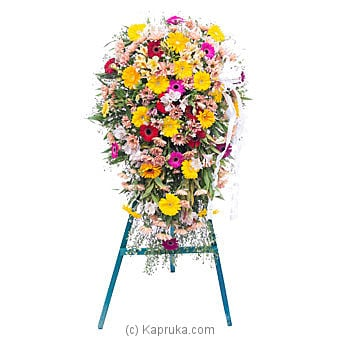 Funeral Wreath - B with Stand at Kapruka Online for flowers