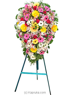 Funeral Wreath - C with Stand at Kapruka Online for flowers