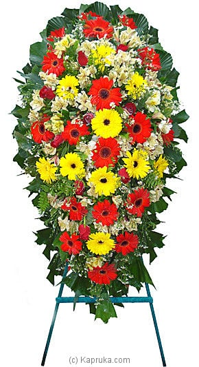 Funeral Wreath - D with Stand at Kapruka Online for flowers