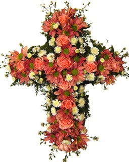 Cross Type Wreath - Pink Roses at Kapruka Online for flowers